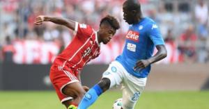 Bayern Monaco-Napoli 0-2: azzurri avanti con Koulibaly e Giaccherini