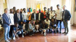 Premio alla squadra Africa Sporting Napoli