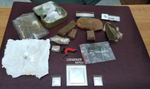 Barano d'ischia: carabinieri arrestano 36enne per hashish, marijuana e coca
