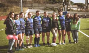 Cristina Donadio e le ragazze dell'Amatori Napoli Rugby: no alla violenza sulle donne
