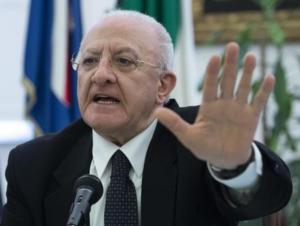 """Autonomia: De Luca, difendere unità, """"no a conflitto Nord-Sud"""""""