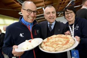 Universiadi:ricotta,pomodorini e pesto per pizza Universiade