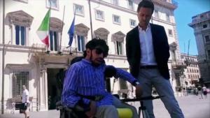 Disability Pride, Marco Gentili consegna richieste a Conte