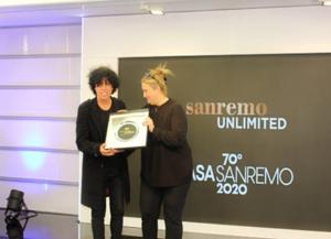 Blandizzi a Casasanremo, riceve il prestigioso premio nazional Voice Award