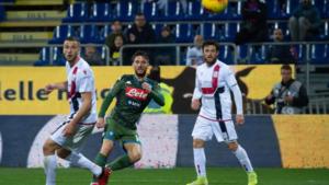 """Cagliari-Napoli 0-1: """"magia di Mertens"""" Gattuso voglio un filotto di vittorie"""