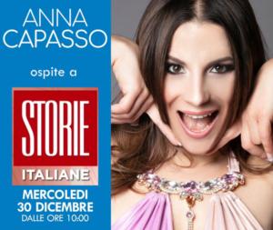 """Anna Capasso: ospite a Storie """"Italia Rai1"""""""