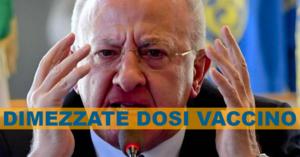 """Tagli ai vaccini per tre settimane: l'ira di De Luca """"contro Arcuri"""""""