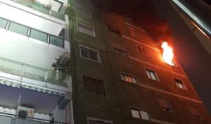 """Tragico incendio a Fuorigrotta: le fiamme avvolgono un'abitazione, morti due vecchietti, un ferito grave""""evacuata la palazzina"""""""