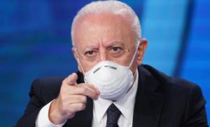 """COVID: De Luca, annuncia comportamenti di responsabilità, o sarà nuovo """"lockdown"""""""