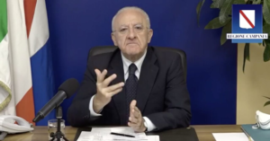 """Campania: per la sesta settimana ancora in zona rossa, De Luca tuona """"Criteri demenziali"""""""
